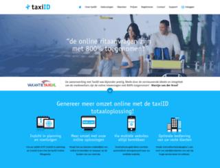 taxiid.nl screenshot