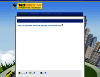 taxiwebpartner.co.uk screenshot