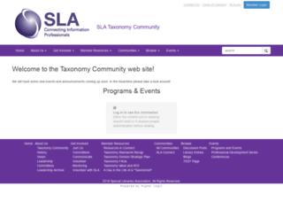 taxonomy.sla.org screenshot