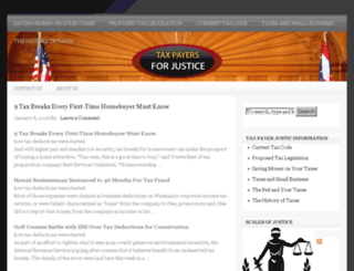 taxpayersforjustice.org screenshot