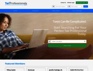 taxprofessionals.com screenshot