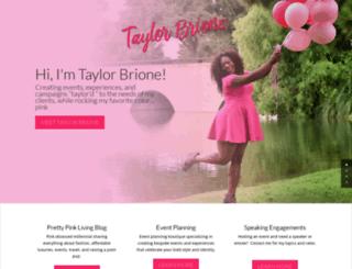 taylorbrione.com screenshot
