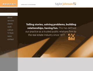 taylorjohnson.com screenshot