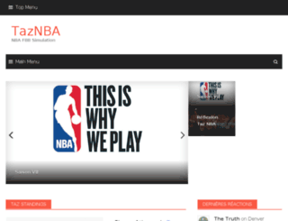 taz-nba.net screenshot