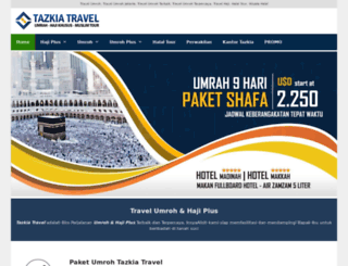tazkiatravel.com screenshot