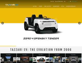 tazzari-zero.com screenshot