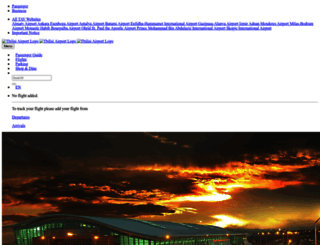 tbilisiairport.com screenshot