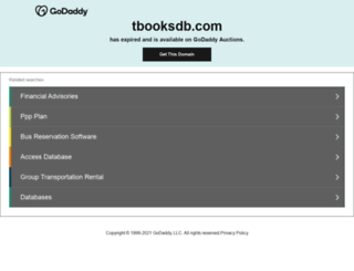 tbooksdb.com screenshot