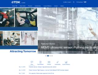 tdk.com screenshot