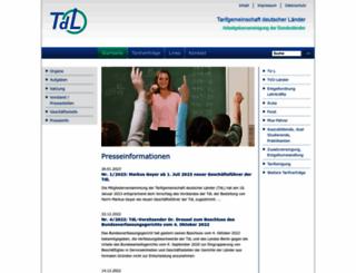 tdl-online.de screenshot