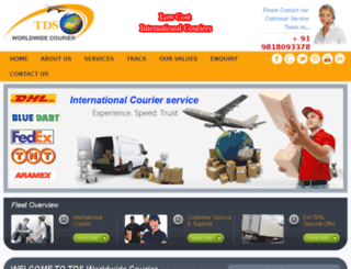tdsworldwidecourier.com screenshot