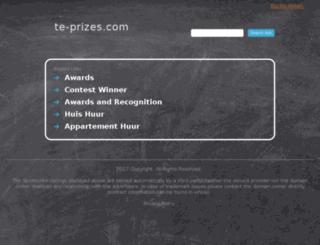 te-prizes.com screenshot