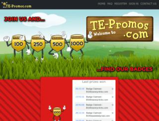 te-promos.com screenshot