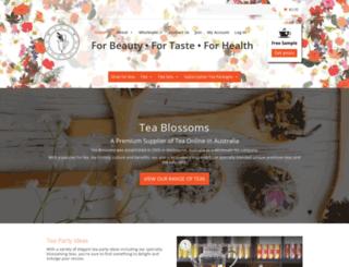 teablossoms.com.au screenshot