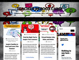 teacherbootcamp.edublogs.org screenshot