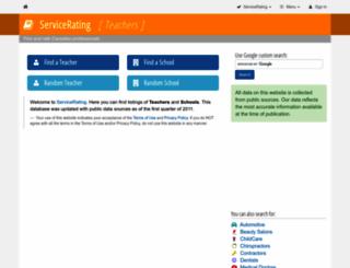 teachers.servicerating.ca screenshot