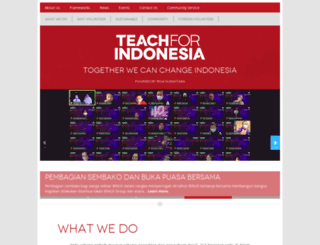 teachforindonesia.org screenshot
