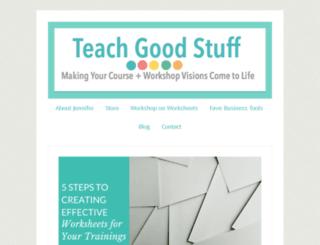 teachgoodstuff.com screenshot