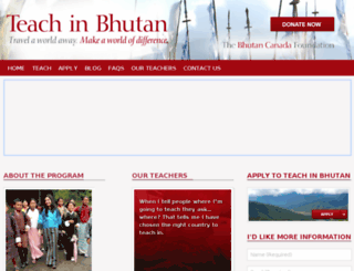 teachinbhutan.org screenshot