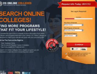teaching.onlinecolleges2013.com screenshot