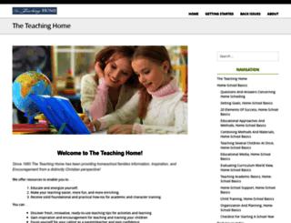 teachinghome.com screenshot