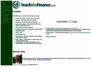 teachmefinance.com screenshot