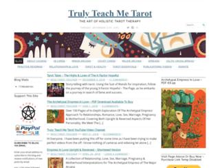 teachmetarot.wordpress.com screenshot