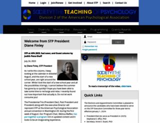 teachpsych.org screenshot