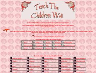 teachthechildrenwell.com screenshot