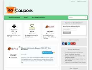 teacoupons.com screenshot