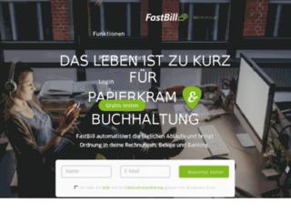 team.fastbill.com screenshot