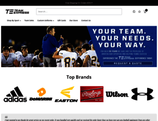 teamexpress.com screenshot