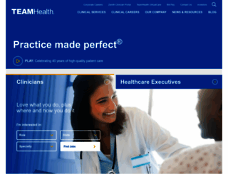 teamhealth.com screenshot