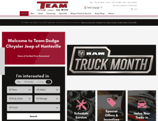 teamhuntsville.com screenshot