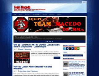teammacedo.blogspot.com.br screenshot