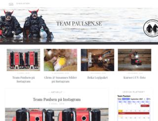 teampaulsen.se screenshot