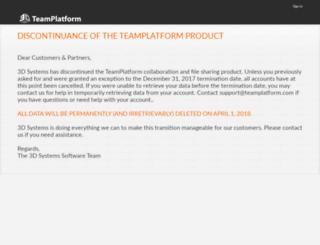 teamplatform.com screenshot