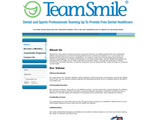 teamsmile.wildapricot.org screenshot
