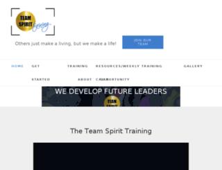 teamspirittraining.com screenshot
