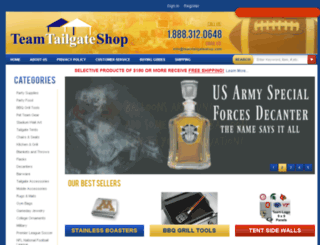 teamtailgateshop.com screenshot