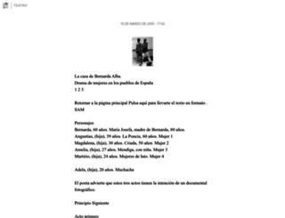 teatro.blogia.com screenshot