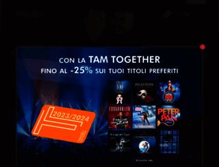 teatroarcimboldi.it screenshot