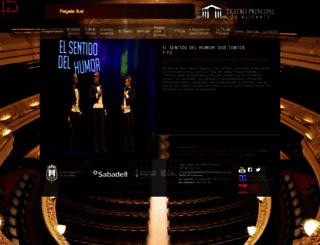 teatroprincipaldealicante.com screenshot