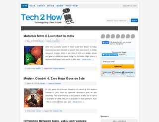 tech2how.com screenshot