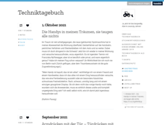 techniktagebuch.tumblr.com screenshot