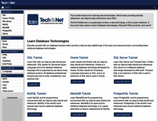 techonthenet.com screenshot