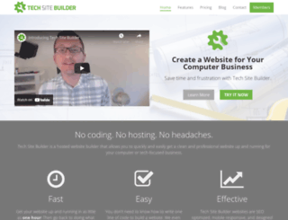 techsitebuilder.com screenshot