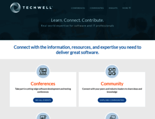 techwell.com screenshot