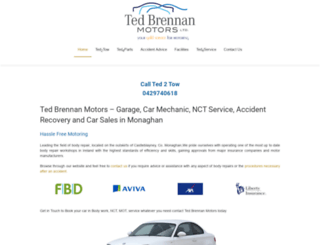 tedbrennanmotors.ie screenshot