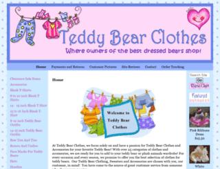 teddybearclothes.com screenshot